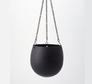 Cal Hanging Pot Metal Blk