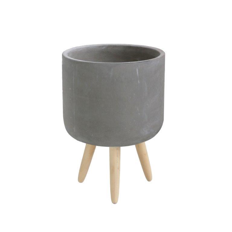Cement Pot with Leg