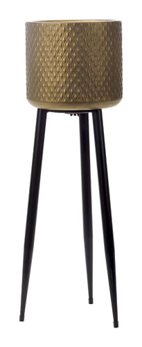 Rud Thea Plant Stand Black/Gold